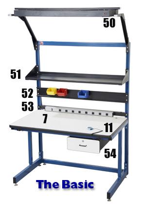 C leg work bench, Basics production bench