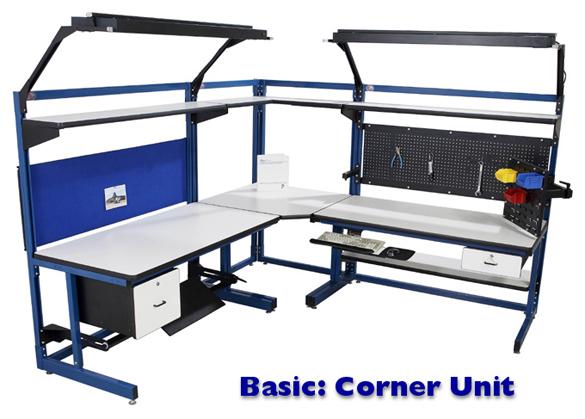 "Basics corner bench ""L"" shaped bench"