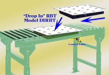 retractable ball transfer workbench