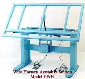ergonomic wire harness workbench