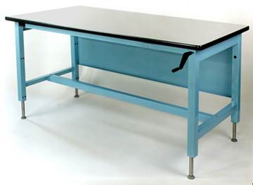 heavy duty hand adjustable workbench