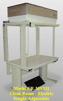 height adjustable laminar clean room workbench