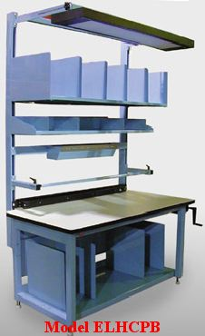 adjustable packaging workbench