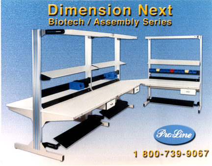 """dimension next workbenches """"L"""" shaped"""