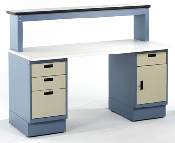 Pedestal workbenches