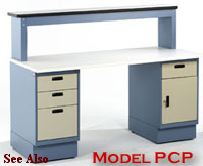 laboratory cabinet bench with  casework