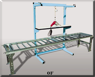 Over conveyor open frame