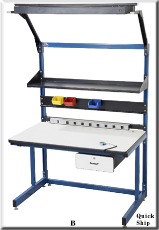 Basics C leg cantilever workbench