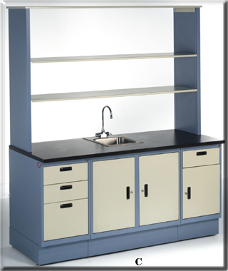 laboratory cabinets with sink