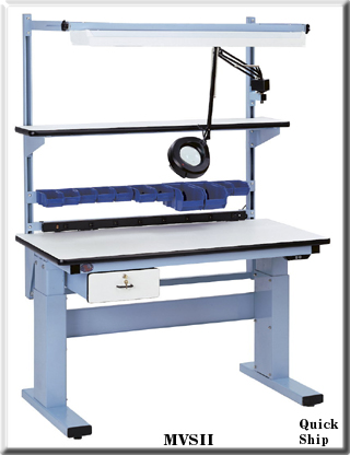 electric height adjustable work bench