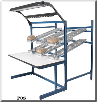 point of use workbench with lighting