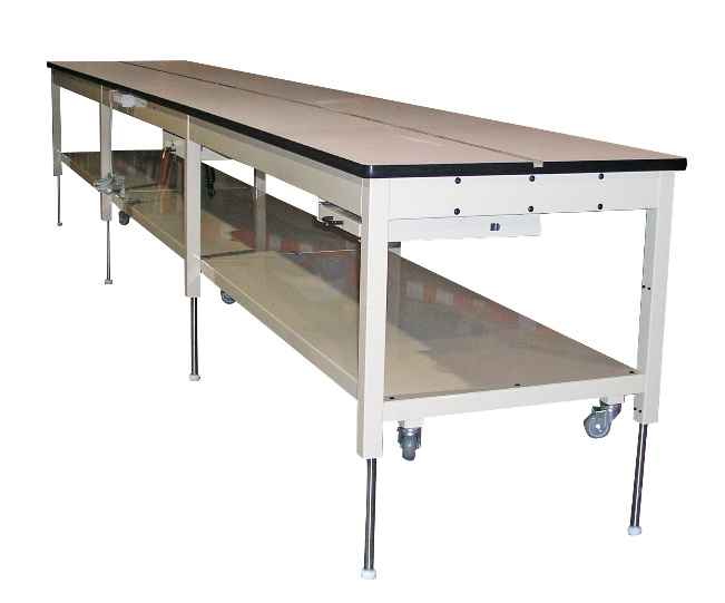extra long height adjustable workbench