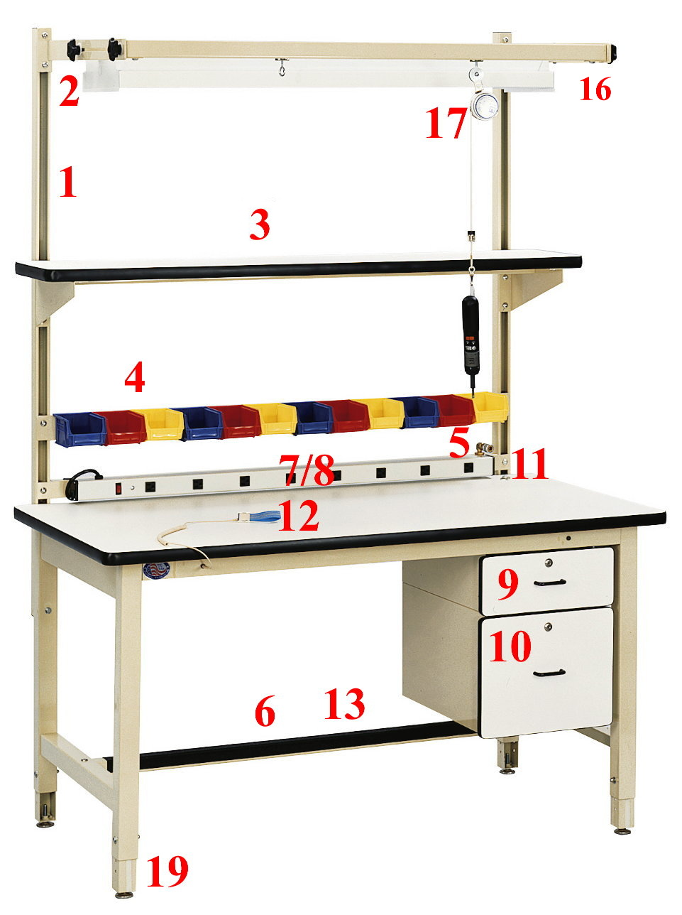 Model HD | Heavy Duty Ergonomic Workbench