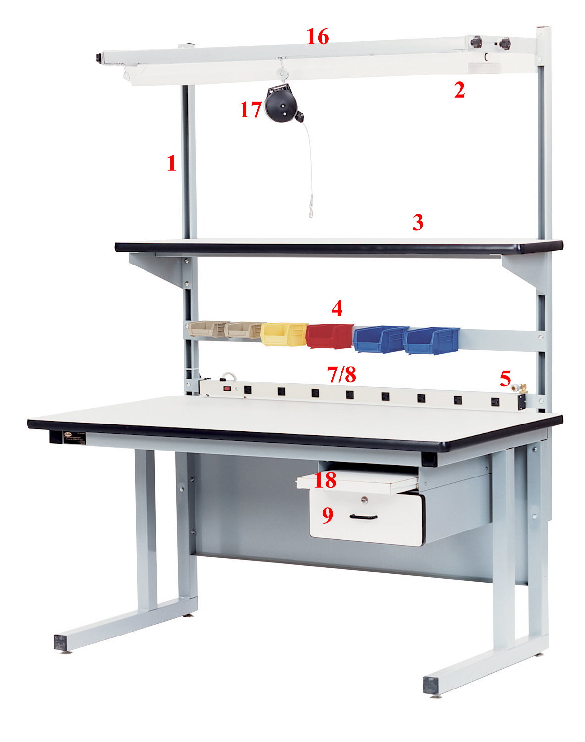 Cantilever Industrial Workbench / ESD workbench