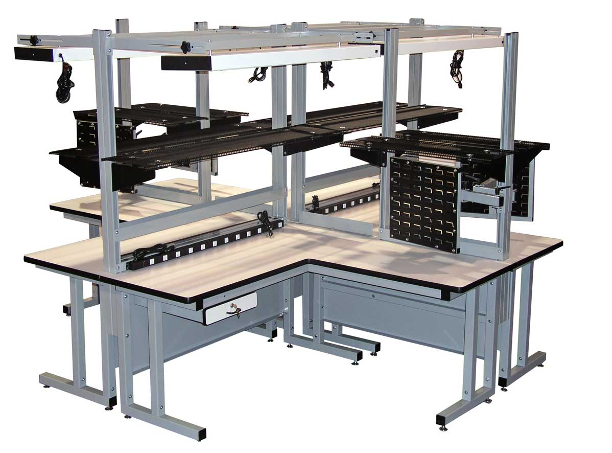 model cantilever heavy duty quad workbench