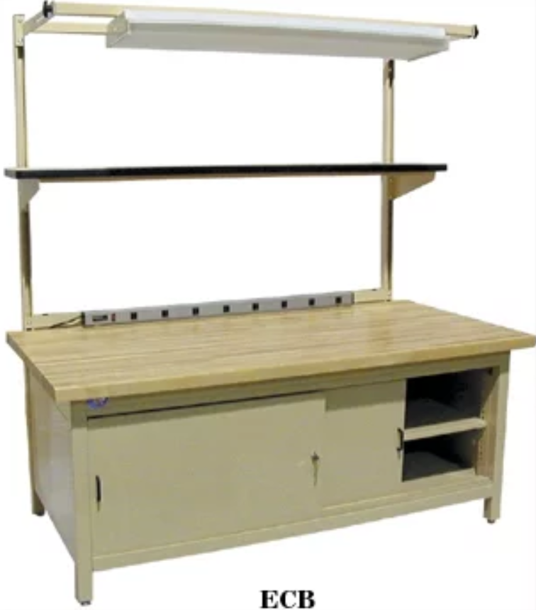 model enclosed cabinet work bench