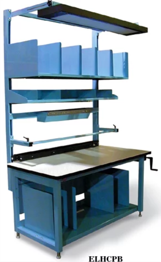 model ergoline height adjustable packing bench
