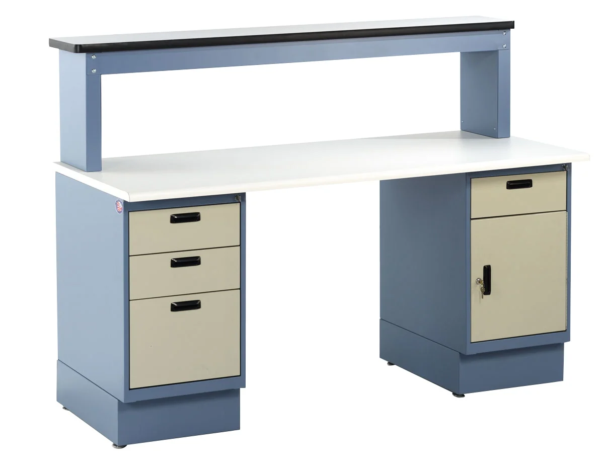 model heavy duty pedestal workbench